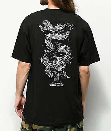 5Boro NY Yokohama Snake Black T-Shirt
