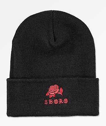 5Boro Rose Black Beanie