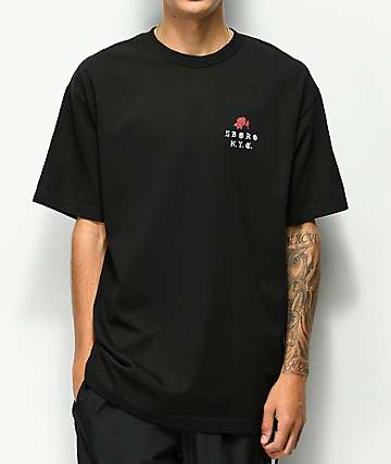 5Boro Rose Black T-Shirt