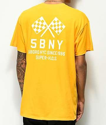 5Boro Speedway Gold T-Shirt