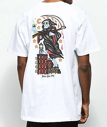 5Boro Thirsty Reaper White T-Shirt