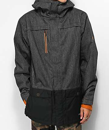 686 Anthem Black Denim 10K Snowboard Jacket