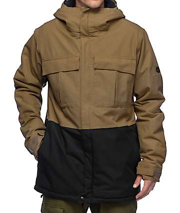 686 Authentic Moniker Khaki 10K Snowboard Jacket