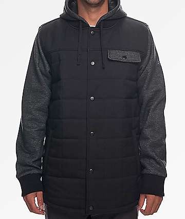 686 Bedwin Insulated Black & Charcoal 2Fer Jacket