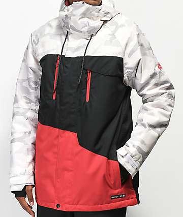 686 Geo 10K chaqueta de snowboard blanca