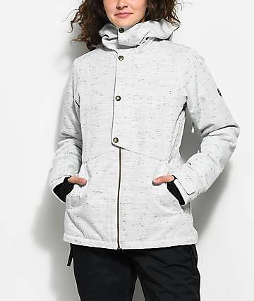686 Rumor White Slub 10K Snowboard Jacket