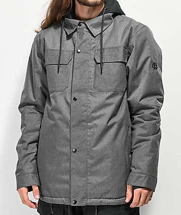 686 Woodland 10K chaqueta de snowboard gris