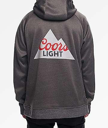 686 x Coors Light Bonded Fleece Charcoal Hoodie