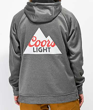 686 x Coors Light Knockout sudadera con capucha gris