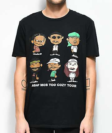 A$AP Mob Too Cozy Graphic Black T-Shirt