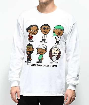 A$AP Mob Too Cozy Graphic camiseta blanca de manga larga
