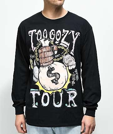 A$AP Mob Tour Graphic camiseta negra de manga larga