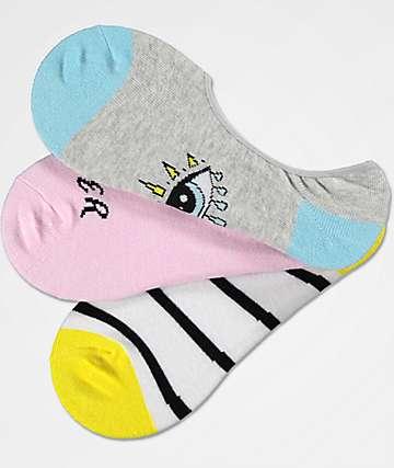 A-Lab 3 Pack Stevie Bummer Summer No Show Socks