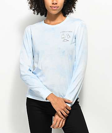 A-Lab Aby Literally Dead Blue Tie Dye Long Sleeve T-Shirt