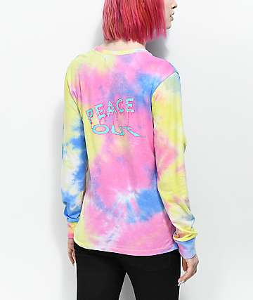 A-Lab Aby Peace Out camiseta de manga larga con efecto tie dye