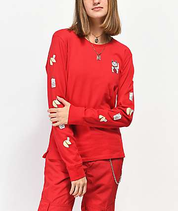 A-Lab Aby Take Out Red Long Sleeve T-Shirt