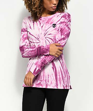 A-Lab Alien Pink Tie Dye Long Sleeve Shirt