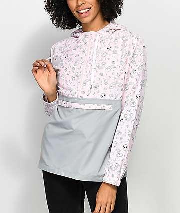 A-Lab Alina Alien chaqueta cortavientos en rosa y gris
