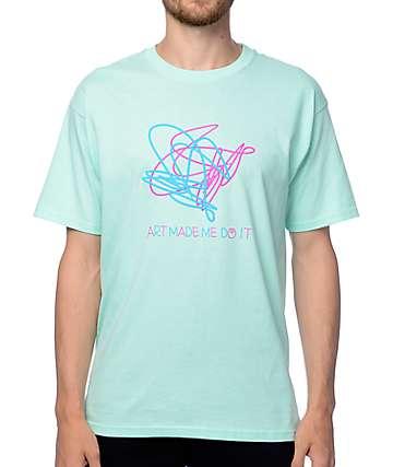 A-Lab Art Made Me Aqua T-Shirt