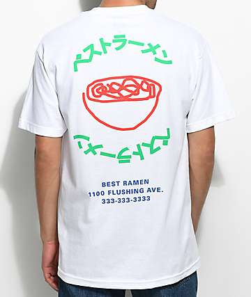 A-Lab Best Ramen! camiseta blanca