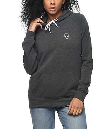 A-Lab Brealynn Alien Vibes Charcoal Hoodie