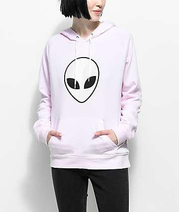 A-Lab Brealynna Alien Hologram Pink Hoodie