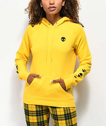 A-Lab Brealynna Alien Sleeve Yellow Hoodie