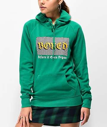 A-Lab Brealynna Bored sudadera verde con capucha