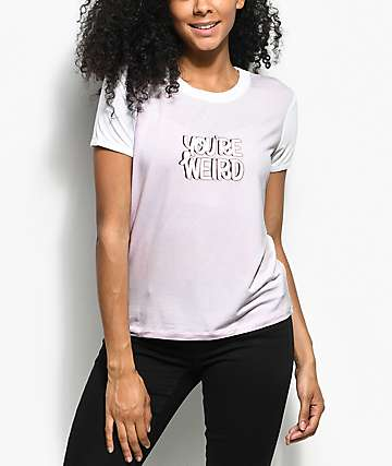 A-Lab Byrl You're Weird Light Pink T-Shirt