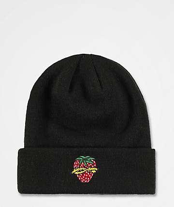 744f623ef1d A-Lab Cameron Strawberry Black Beanie