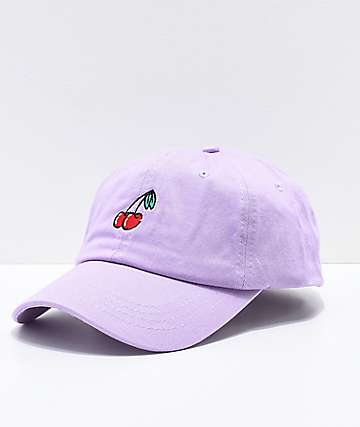 A-Lab Cherries Lavender Strapback Hat