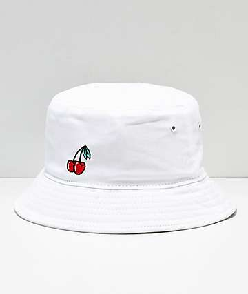 A-Lab Cherries White Bucket Hat