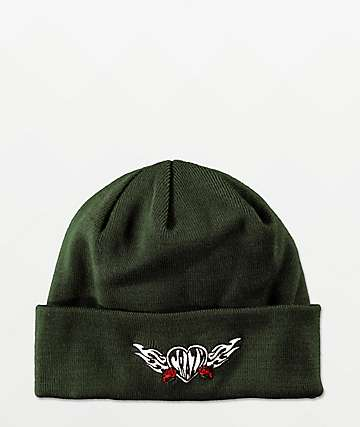 A-Lab Crazy Dark Green Beanie
