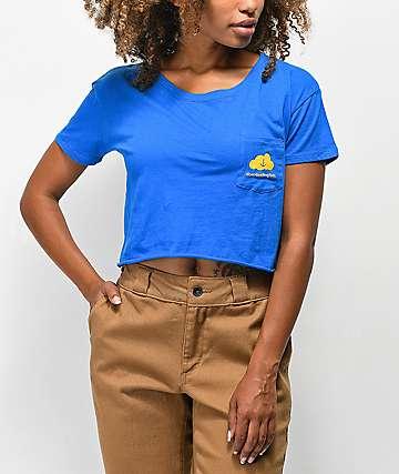 A-Lab Downloading Blue Crop T-Shirt