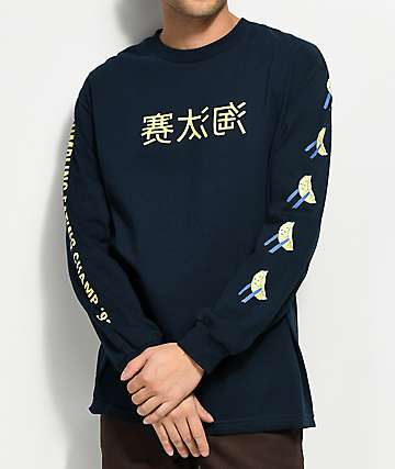 A-Lab Dumpling Champ Navy Long Sleeve T-Shirt