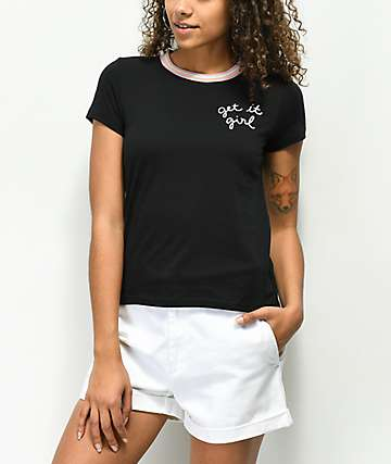 A-Lab Ezra Get It Girl camiseta negra