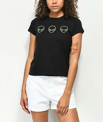 A-Lab Ezra Glow Aliens camiseta negra