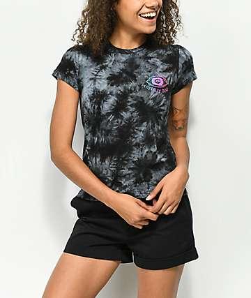 A-Lab Ezra Literally Dead camiseta negra con efecto tie dye