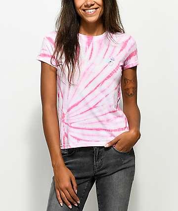 A-Lab Ezra Mushroom Pink Tie Dye T-Shirt
