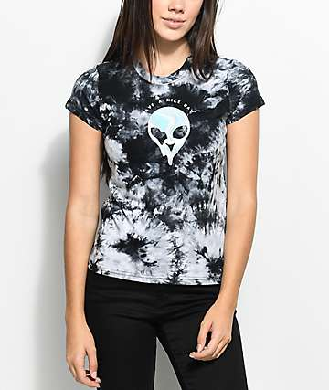 A-Lab Ezra Nice Day Alien Tie Dye T-Shirt