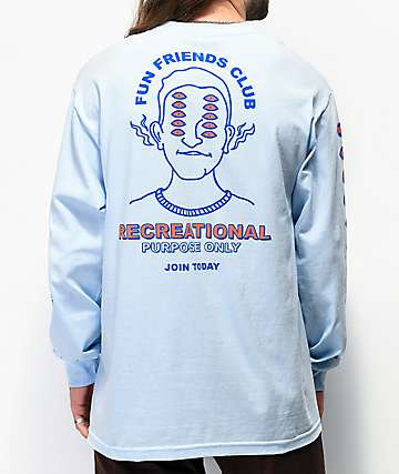 A-Lab Friends Club Light Blue Long Sleeve T-Shirt