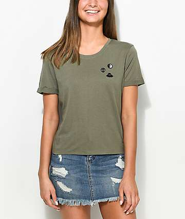 A-Lab Hana Alien Space Olive T-Shirt