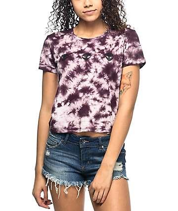 A-Lab Hana Aliens Burgundy Tie Dye T-Shirt