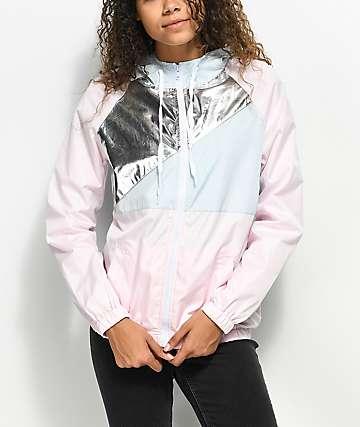 A-Lab Karisma chaqueta cortavientos en rosa y color plateado