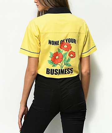 A-Lab Kilo camisa amarilla con detalle anudado