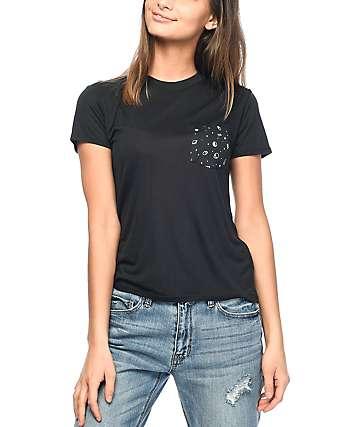 A-Lab Kito Alien camiseta negra con bolsillo