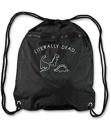 A-Lab Literally Dead Black Cinch Bag