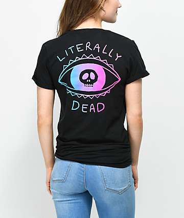 A-Lab Literally Dead Knot Front Black T-Shirt