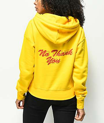 A-Lab Lucia No Thank You sudadera con capucha amarilla