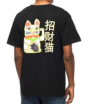 A-Lab Lucky Cat camiseta negra